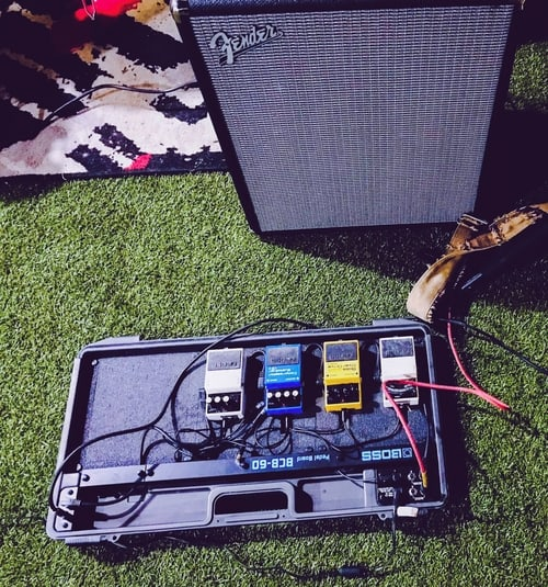 Guitar amp and pedals