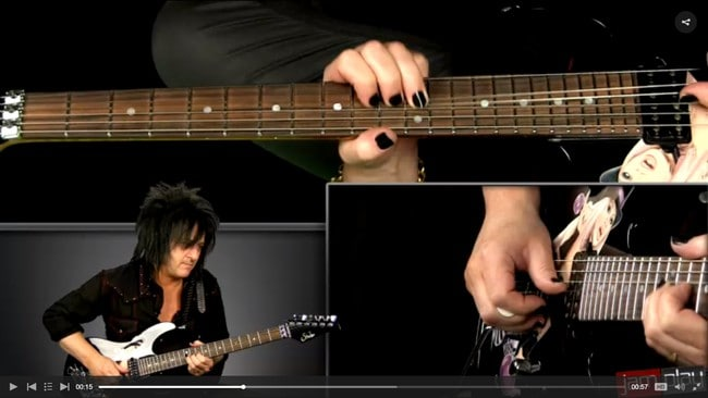 Screenshot of a JamPlay guitar lesson