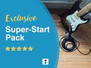 Online guitar lessons Super-Start Pack