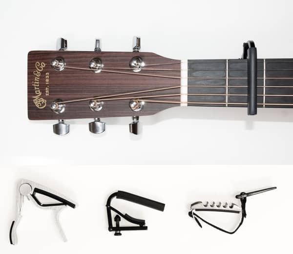 capo on guitar and the three types of capo